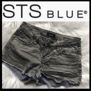 STS BLUE High Waist Camo Shorts